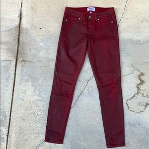 Paige Verdugo Ankle Coated Skinny Jeans